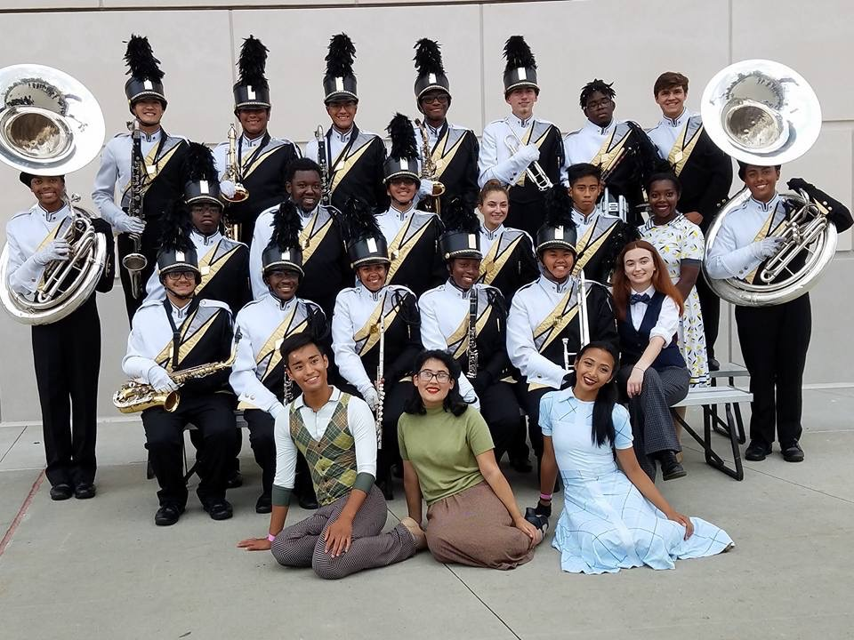 The marching band's seniors