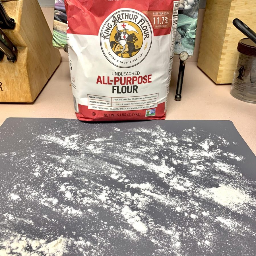 Flour your work surface before putting your dough onto it.